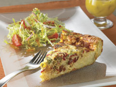 Pasta and Vegetable Frittata with Salad