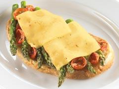 Grilled Asparagus Open-Face Sandwich