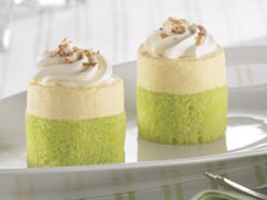 Coconut-Key Lime Mini Mousse Cakes