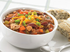Barbecue Chicken Chili with Mixed Beans
