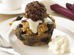 Chocolate Bread Pudding with Easy Vanilla Sauce