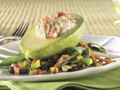Crab & Shrimp-Stuffed Avocado Salad