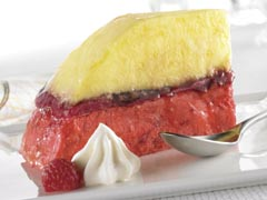 Lemon-Raspberry Sorbet Bombe
