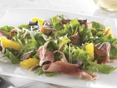 Mixed Greens with Prosciutto, Dried Figs & Asiago