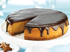 Double Ginger-Chocolate Ganache Cheesecake