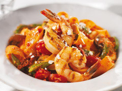Shrimp & Pappardelle Pasta with Grilled Veggies