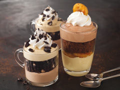 Chocolate-Hazelnut & Banana Mousse Mini Pudding Parfaits