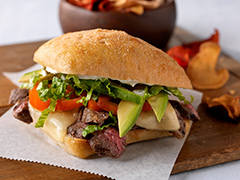 "Grilled Steak Fusion ""Panini"""