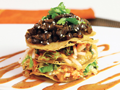 Korean Taco Salad Stack