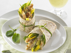 Curried Chicken & Mango Wraps