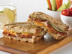 Turkey Panini with Cheddar, Red Onion, Apple & Pancetta