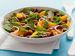 Salade oranges-betteraves-épinards