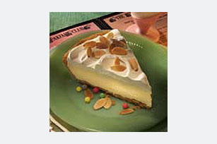 5 Minute Toasted Almond Cheesecake Pie Image 1