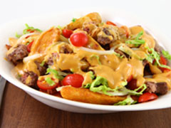 BBQ Bacon Cheddar Burger-Loaded Fries