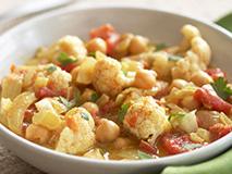 Curried Cauliflower & Chickpea Stew