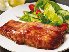 Barbecue-Glazed Salmon