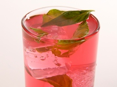Basil-Strawberry Refresher