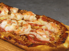 BBQ Shrimp Flatbread