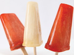 Raspberry-Ginger Fruit Pops