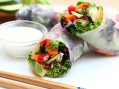 Hand-Held Classic Side-Salad Rolls