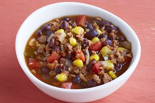 Western Bean and Burger Soup Image 1