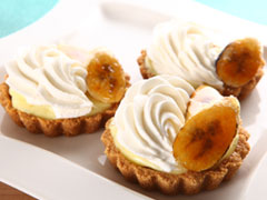 Peanut Butter & Banana Tartlets
