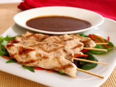 Chicken Satay with Thai Coconut Peanut Dipping Sauce