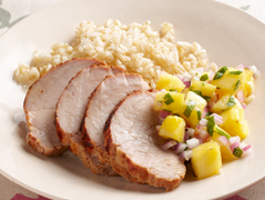 Grilled Spice-Rubbed Pork with Pineapple Salsa