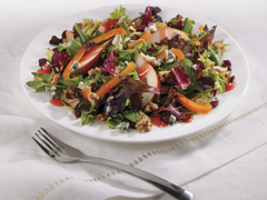 Spring Mix with Pear, Walnut & Blue Cheese