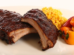 BBQ Pork Ribs with Ancho Chile & Sweet Piquanté BBQ Sauce