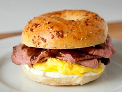 Steak & Egg Bagelwich