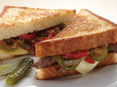 Smoky Philly-Style Grilled Cheese