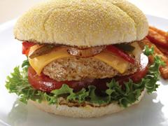 Burgers au fromage et au poulet façon fajitas
