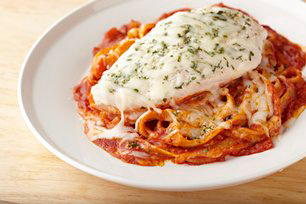 Baked Chicken Parmesan with Linguine Image 1