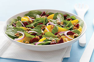 Citrus & Beet Spinach Salad