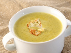 Broccoli & Roasted Cauliflower Cheese Soup