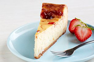 White Chocolate-Strawberry Swirl Cheesecake Image 1
