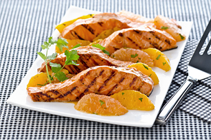 Grilled Mandarin Salmon with Citrus Salsa