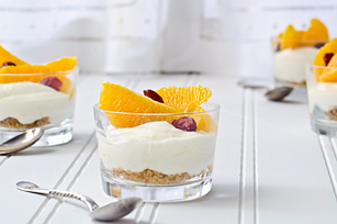 Citrus & Cranberry Cheesecake Cups