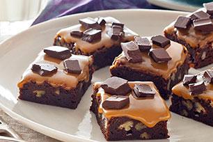Brownies con salsa de caramelo