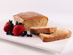 Cappuccino-Cream Cheese Pound Cake with White Chocolate Glaze
