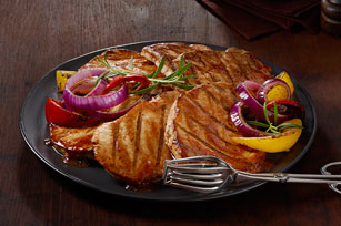 Tangy Grilled Pork Steaks Image 1