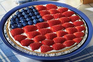Cheesecake con bayas a la estadounidense y sin hornear
