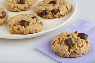 Chocolate-Peanut Butter Oatmeal Cookies