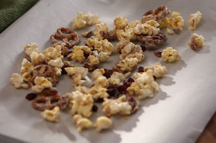 Ashley and Whitney's Popcorn and Pretzel Sweet Snack Mix