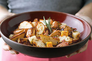 Roasted Potatoes With Bacon & Cheese