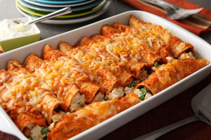 Creamy Chicken Red Enchiladas Image 1