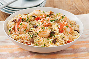 "Weeknight Shrimp and Onion ""Risotto"""