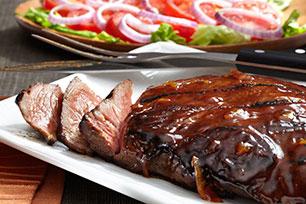 Bistec de res al BBQ
