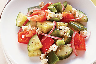 Easy Greek Cucumber-Tomato Salad